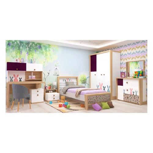 Набор детской мебели Luxe Studio Кролик Banny 7 элементов спальное место 190х90