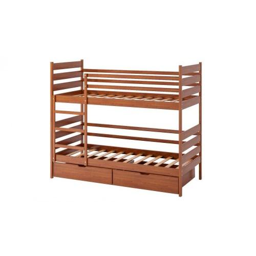 Кровать Camelia Ларикс двухъярусная дуб 90х200