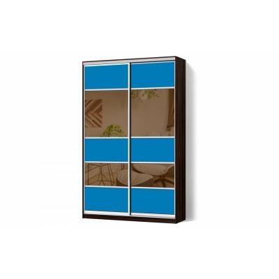 Шкаф-купе комбинированный фасад двухдверный Классик