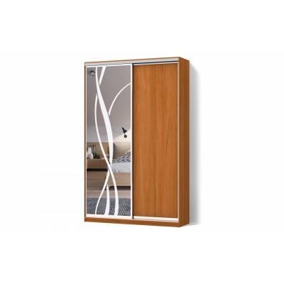 Шкаф-купе Зеркало пескоструй2 двухдверный Стандарт