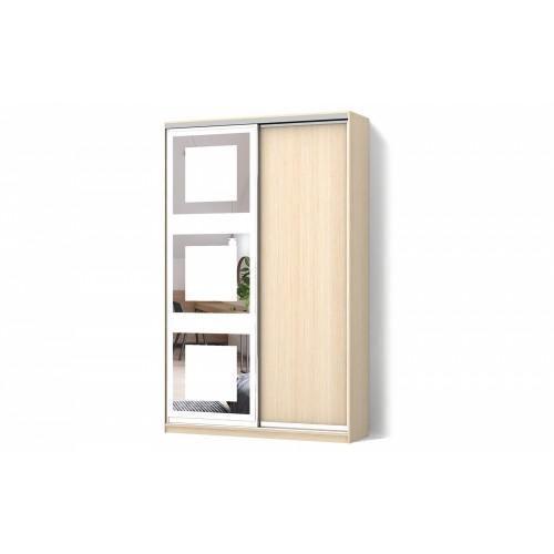 Шкаф-купе Зеркало пескоструй4 двухдверный Стандарт