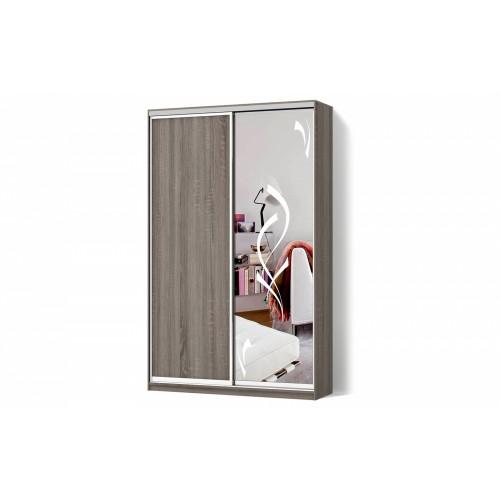 Шкаф-купе Зеркало пескоструй6 двухдверный Стандарт
