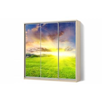 Шкаф-купе с рисунком фотопечать Wind трехдверный Стандарт