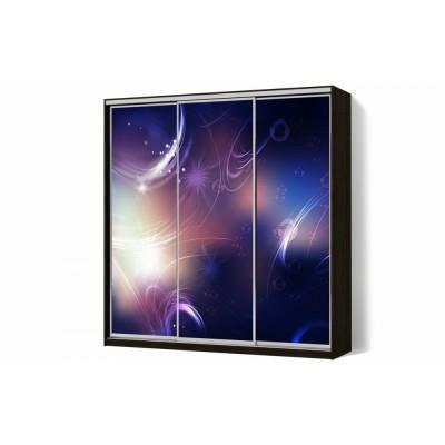 Шкаф-купе с рисунком фотопечать Вечер трехдверный Стандарт