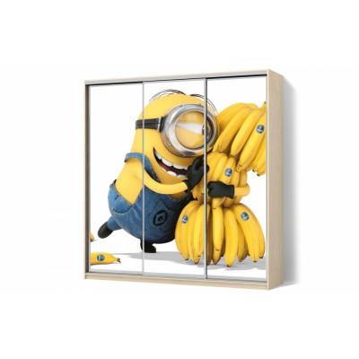 Шкаф-купе с рисунком фотопечать Миньен трехдверный Стандарт