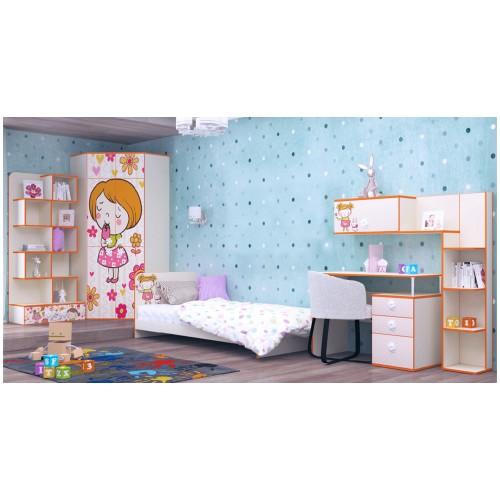 Набор детской мебели Luxe Studio Мандаринка 6 элементов спальное место 190х90