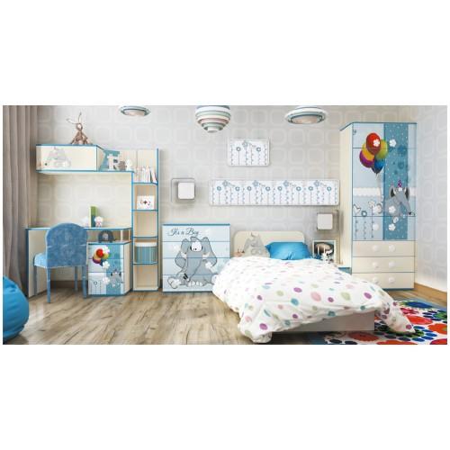 Набор детской мебели Luxe Studio Слоник 6 элементов спальное место 190х90