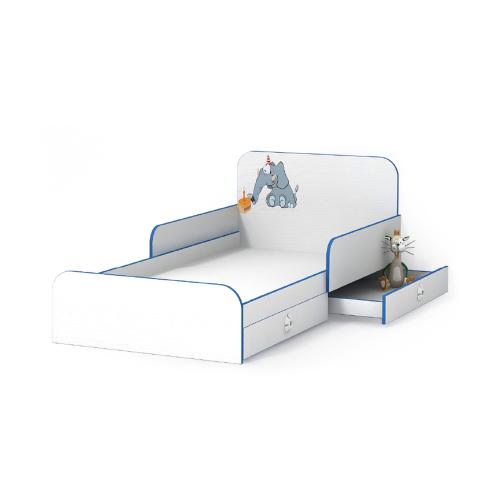 Кровать Luxe Studio Слоник с бортиком 90х190