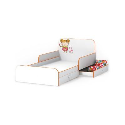 Кровать Luxe Studio Мандаринка с бортиком 90х190