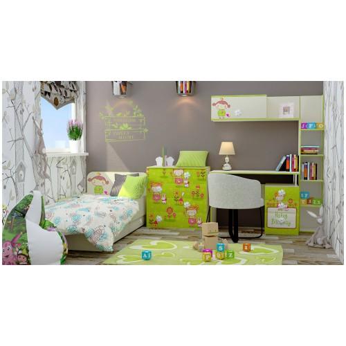 Набор детской мебели Luxe Studio Яблочко 6 элементов спальное место 190х90